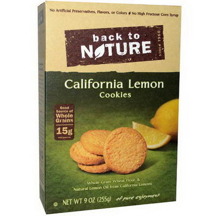 Back to Nature, California Lemon Cookies, 9oz (255g)