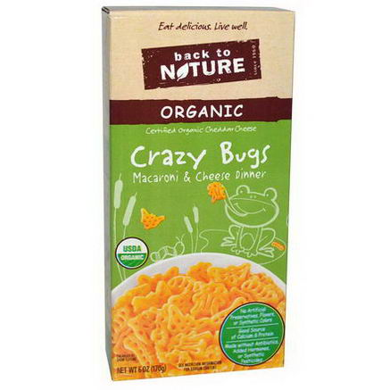 Back to Nature, Crazy Bugs, Organic Macaroni & Cheese Dinner, 6oz (170g)