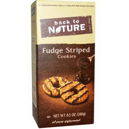 Back to Nature, Fudge Striped Cookies, 8.5oz (240g)