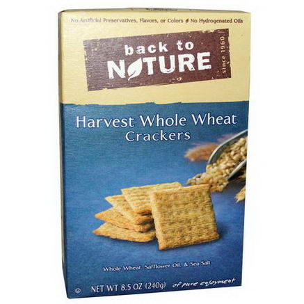 Back to Nature, Harvest Whole Wheat Crackers, 8.5oz (240g)