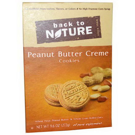 Back to Nature, Peanut Butter Creme Cookies, 9.6oz (272g)