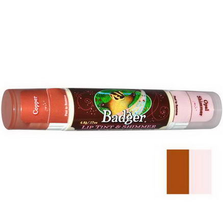 Badger Company, Lip Tint & Shimmer, Copper/Opal Shimmer, 17oz (4.8g)