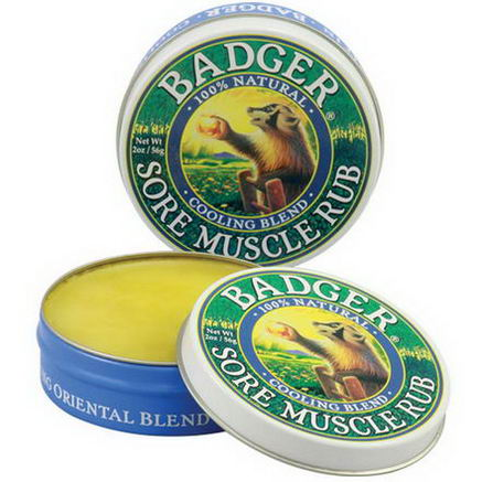 Badger Company, Sore Muscle Rub, Cooling Blend, 2oz (56g)