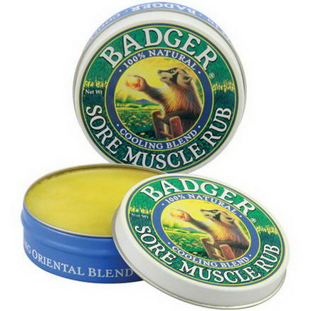 Badger Company, Sore Muscle Rub, Cooling Blend, 75oz (21g)