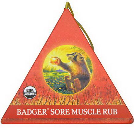 Badger Company, Sore Muscle Rub Ornament, Original Blend, Cayenne & Ginger, 75oz