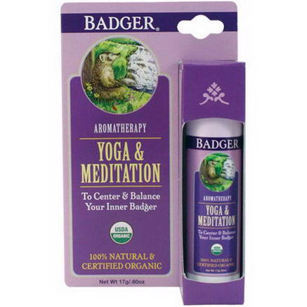 Badger Company, Yoga & Meditation, Cedarwood & Mandarin, 60oz (17g)
