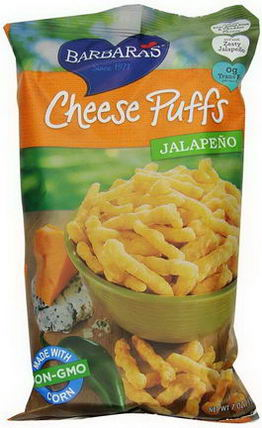 Barbara's Bakery, Cheese Puffs, Jalapeno, 7oz (198g)