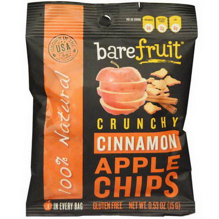 Bare Fruit, Crunchy Cinnamon Apple Chips, 12 Pack, 0.53oz (15g) Each