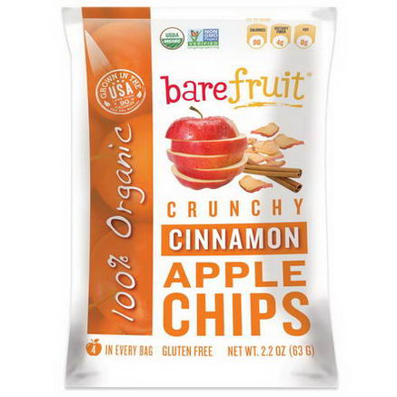 Bare Fruit, Crunchy Cinnamon Apple Chips, 2.2oz (63g)