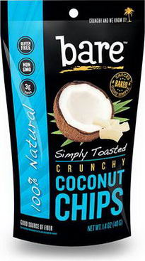 Bare Fruit, Crunchy Coconut Chips, Simply Toasted, 1.4oz (40g)