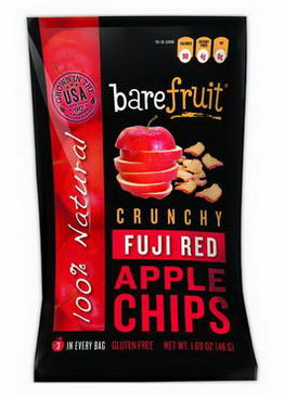 Bare Fruit, Crunchy Fuji Red Apple Chips, 1.69oz (48g)