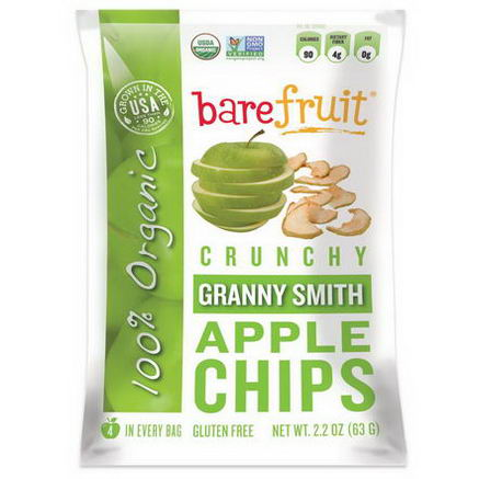 Bare Fruit, Granny Smith Apple Chips, 2.2oz (63g)