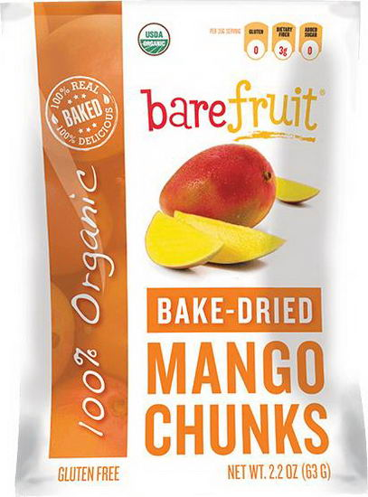 Bare Fruit, Organic Bake-Dried Mango Chunks, 2.2oz (63g)