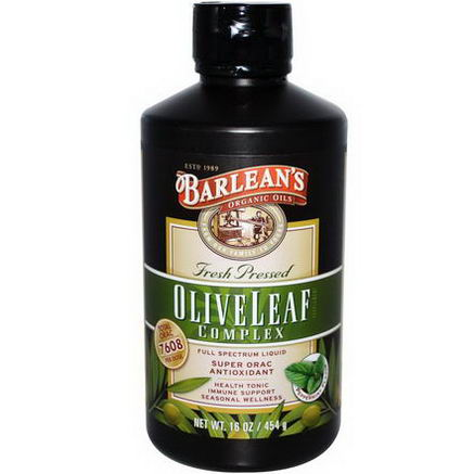Barlean's, Olive Leaf Complex, Peppermint Flavor, 16oz (454g)