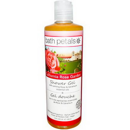 Bath Petals, Shower Gel, California Rose Garden, 12 fl oz (355 ml)