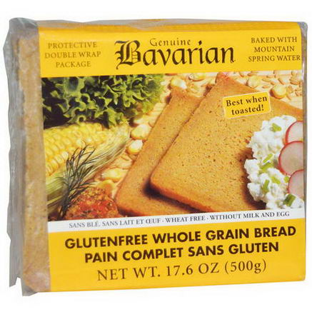 Bavarian Breads, Gluten Free Whole Grain Bread, 17.6oz (500g)