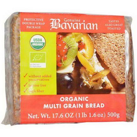 Bavarian Breads, Organic Multi-Grain Bread, 17.6oz (500g)