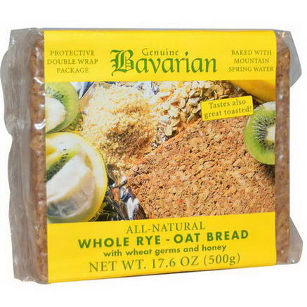 Bavarian Breads, Whole Rye-Oat Bread, 17.6oz (500g)