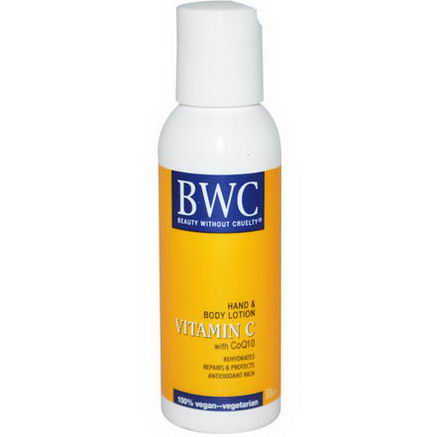 Beauty Without Cruelty, Hand & Body Lotion, Vitamin C With CoQ10, 2 fl oz (59 ml)