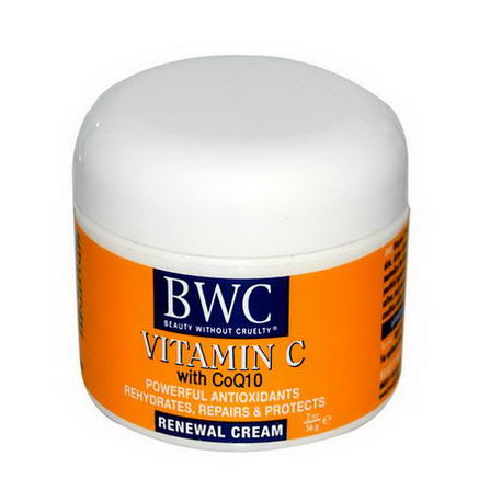 Beauty Without Cruelty, Vitamin C, with CoQ10, Renewal Cream, 2oz (56g)