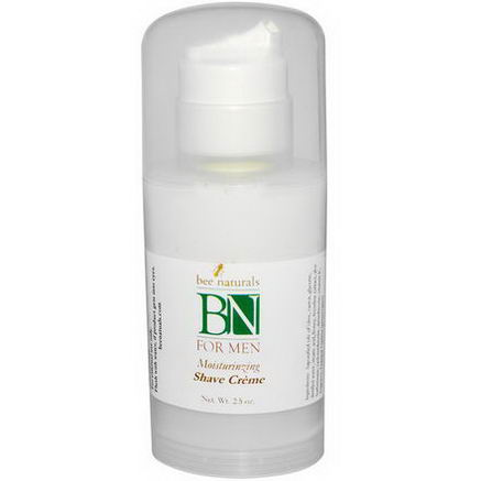 Bee Naturals, BN For Men Moisturizing Shave Cream, 2.5oz