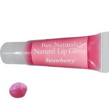Bee Naturals, Lip Gloss, Strawberry, 36 fl oz