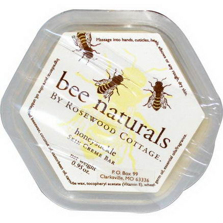 Bee Naturals, Skin Cream Bar, Honeysuckle, 0.95oz