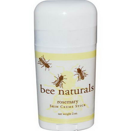 Bee Naturals, Skin Creme Stick, Rosemary, 2oz