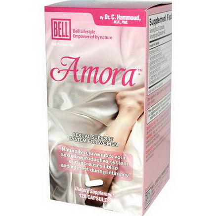 Bell Lifestyle, Amora, Sexual Support System for Women, 120 Capsules