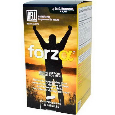 Bell Lifestyle, Forza, Sexual Support System for Men, 120 Capsules