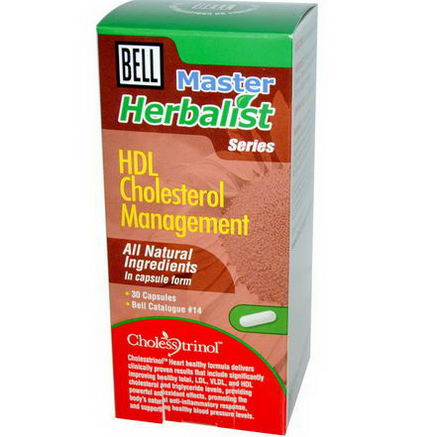 Bell Lifestyle, Master Herbalist Series, HDL Cholesterol Management, 30 Capsules