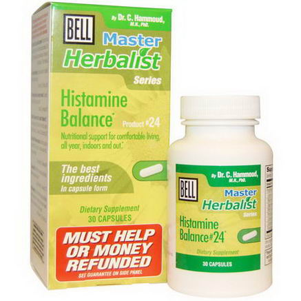 Bell Lifestyle, Master Herbalist Series, Histamine Balance, 30 Capsules