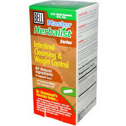 Bell Lifestyle, Master Herbalist Series, Intestinal Cleansing & Weight Control, 300mg, 60 Capsules