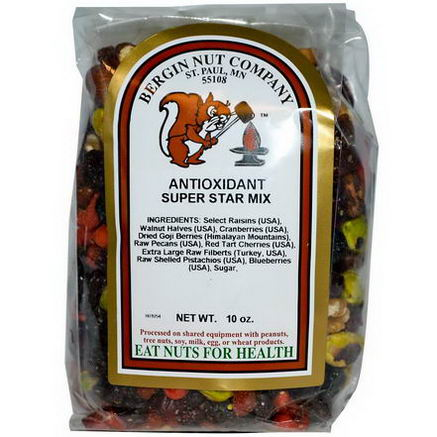 Bergin Fruit and Nut Company, Antioxidant Super Star Mix, 10oz