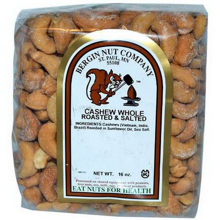 Bergin Fruit and Nut Company, Cashew, Whole, Roasted & Salted, 16oz