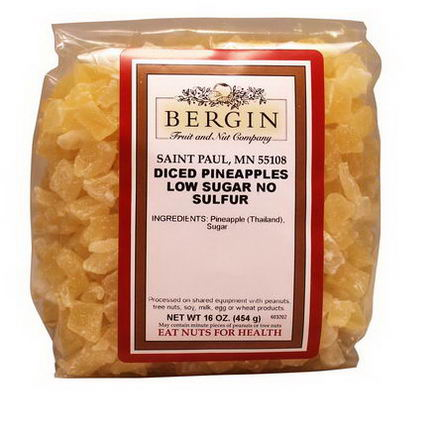 Bergin Fruit and Nut Company, Diced Pineapple, 16oz (454g)