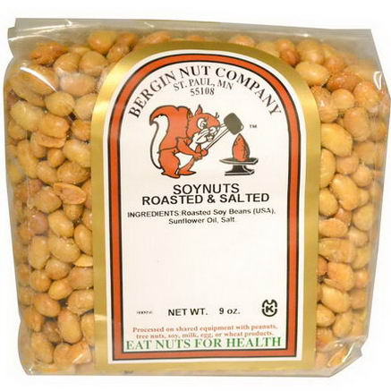 Bergin Fruit and Nut Company, Soynuts Roasted & Salted, 9oz