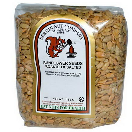 Bergin Fruit and Nut Company, Sunflower Seeds, Roasted & Salted, 16oz