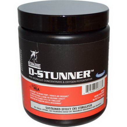 Betancourt, D-Stunner, Pre-Workout Concentrate & Oxygen Potentiator, Blue Raspberry, 9.2oz (260.4g) Powder