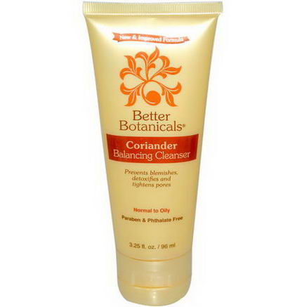Better Botanicals, Coriander, Balancing Cleanser, 3.25 fl oz (96ml)