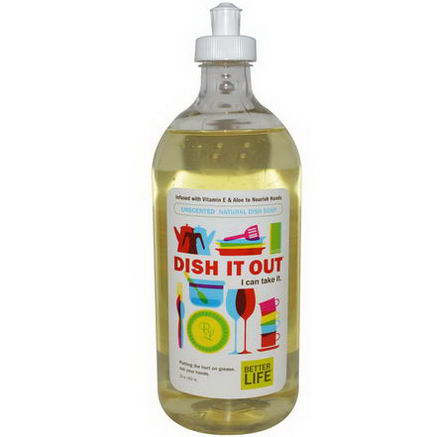 Better Life, Dish It Out, Natural Dish Soap, Unscented, 22oz (651 ml)