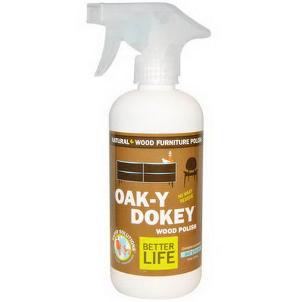 Better Life, Oak-Y Dokey, Natural Wood Cleaner & Polish, Cinnamon & Lavender, 16oz (473 ml)