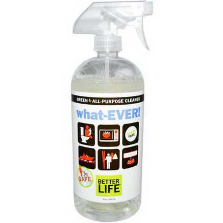 Better Life, What-Ever! Green All Purpose Cleaner, Scent Free, 32oz (946 ml)