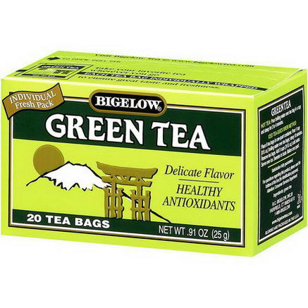 Bigelow, Green Tea, 20 Tea Bags, 91oz (25g)