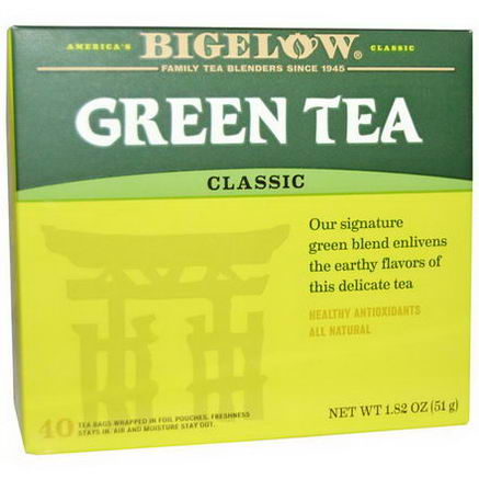 Bigelow, Green Tea, 40 Tea Bags, 1.82oz (51g)