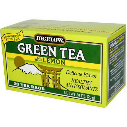 Bigelow, Green Tea with Lemon, 20 Tea Bags, 0.91oz (25g)