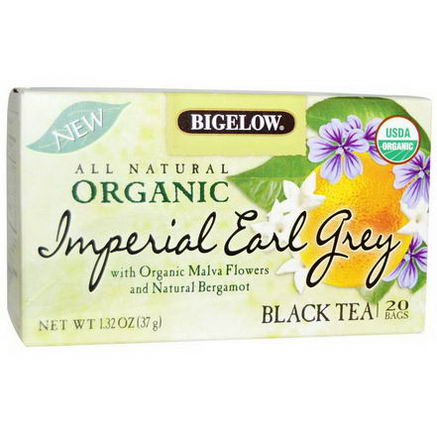 Bigelow, Organic Imperial Earl Grey, Black Tea, 20 Bags, 1.32oz (37g)