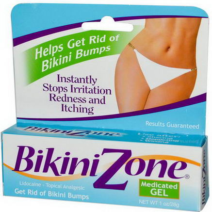 BikiniZone, Medicated Gel, 1oz (28g)