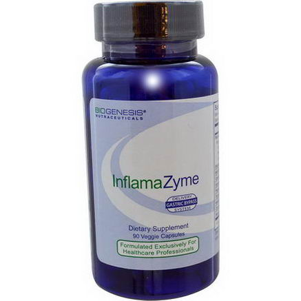 Bio-Genesis Nutraceuticals, InflamaZyme, Gastric Bypass Delivery System, 90 Veggie Caps