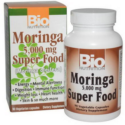 Bio Nutrition, Moringa Super Food, 5, 000mg, 90 Veggie Caps